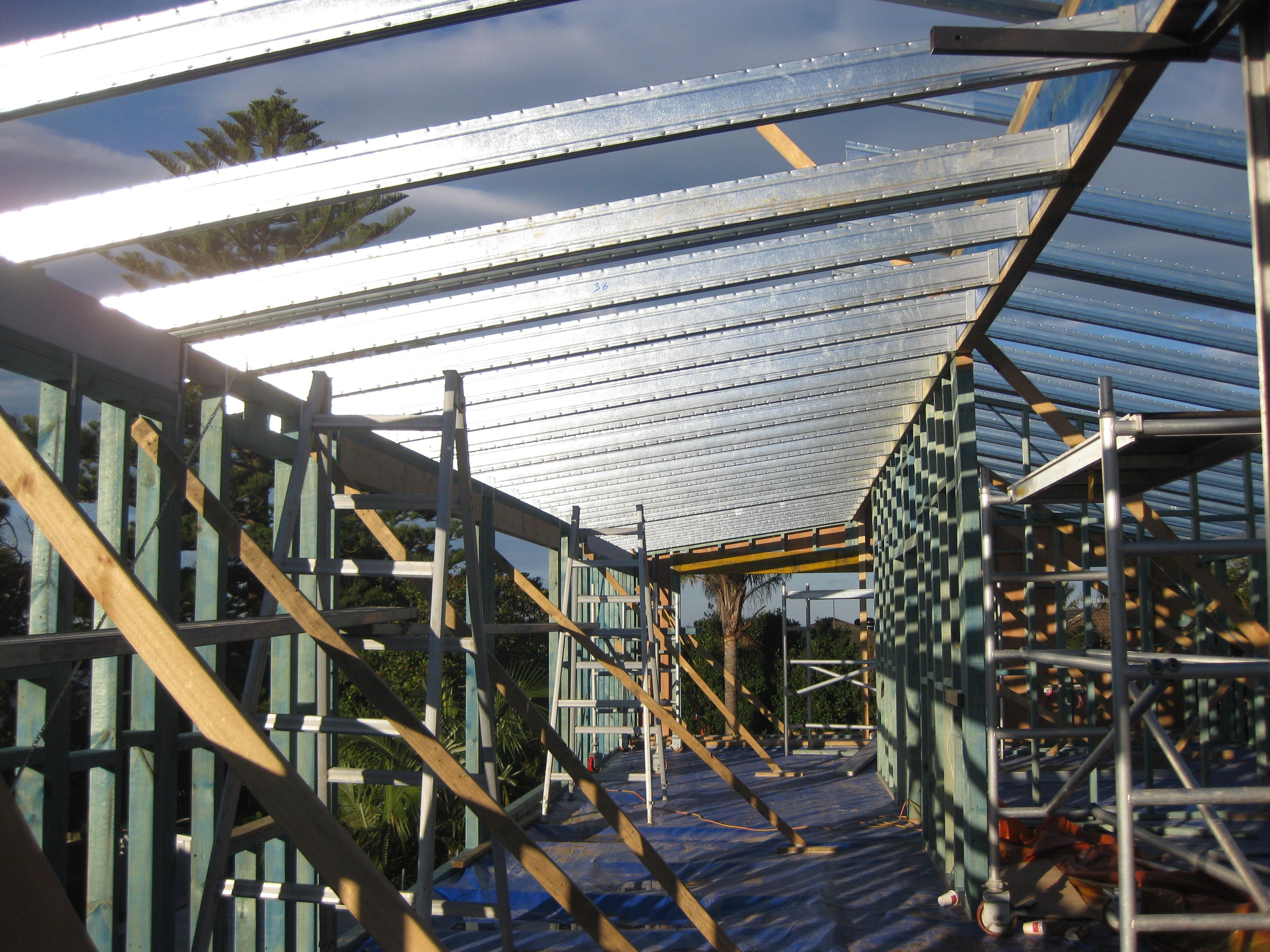 Boxspan roof frame, timber wall frame. | Second Storey Addition ...