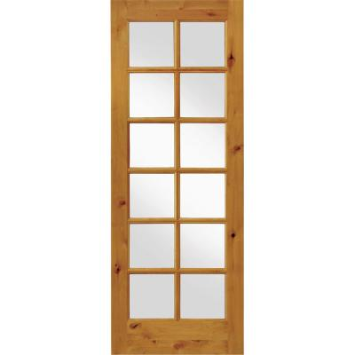 Krosswood Doors 24 In X 96 In Rustic Knotty Alder 12 Lite Tdl Wood Stainable Interior Door Slab Unfinished Products In 2019 Prehung Interior Doors Wood