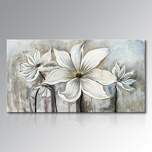 Amazon Com Seekland Art Canvas Wall Art Flowers Lotus Oil