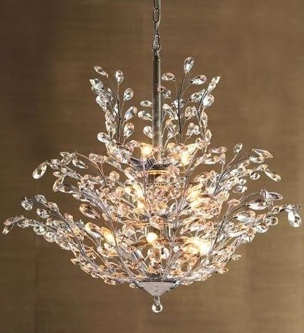 Upside down crystal chandelier horchow