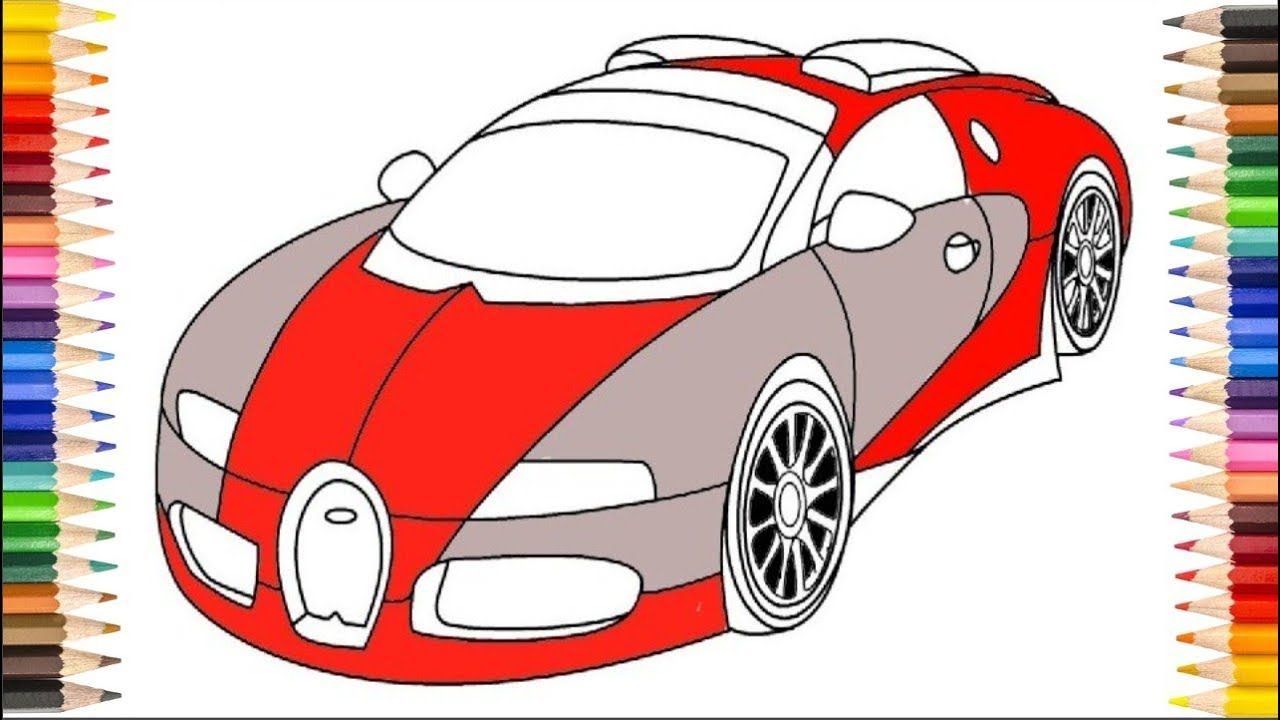 Simple Drawing For Kids and Coloring Pages Step By Step - Draw a Car ...