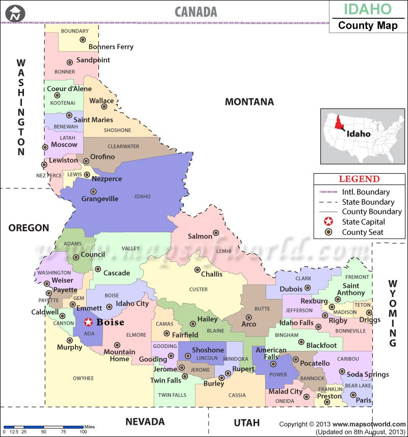 idaho map of cities and towns Look At The Detailed Map Of Idaho County Showing The Major idaho map of cities and towns