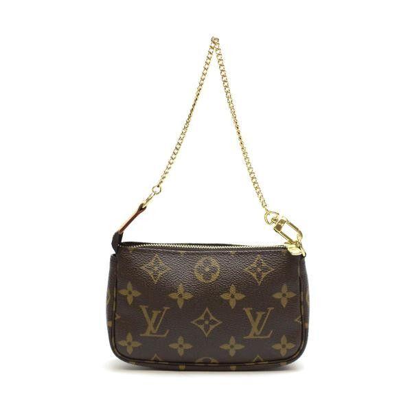 Luxury Fasion Resale Store Rastro Louis Vuitton Mini Pochette Accessoires Monogram Small Bags Brown Canvas M58009