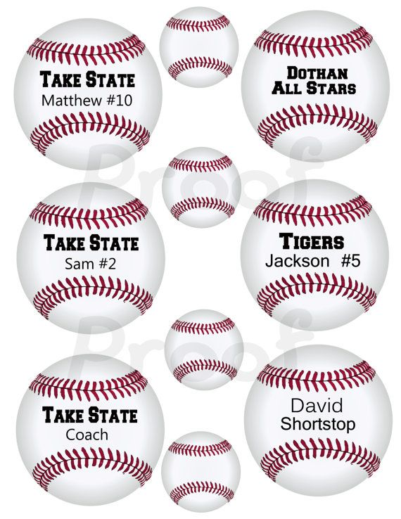graphic about Free Printable Baseball Tags called Printable BASEBALL tags or labels. Unwell increase your phrases then