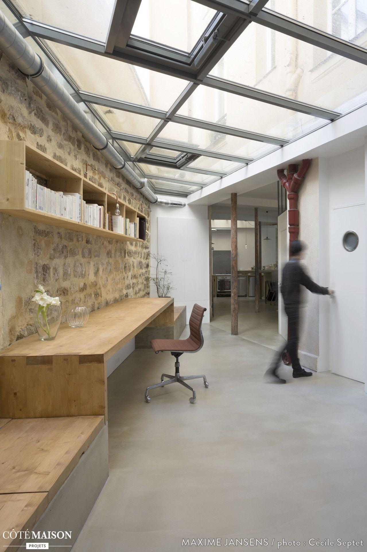 aménagement d'un loft paris 10ème, maxime jansens architecte - côté