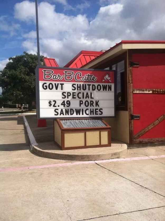 Pork Reduction Funny Excuses Government Shutdown Funny Bunnies