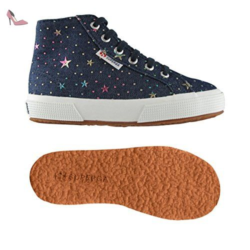 Superga 2795-DENIMSTARSDOTSJ BLUE-MULTICOLORFUXIA - Chaussures superga  (*Partner-Link)