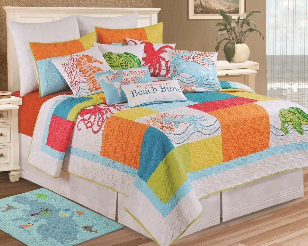 Tropical Escape Pieced Throw 50x60\