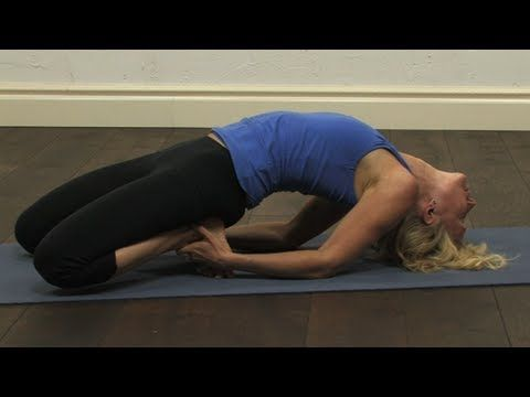 shoulder stand preparation and fish pose yoga video