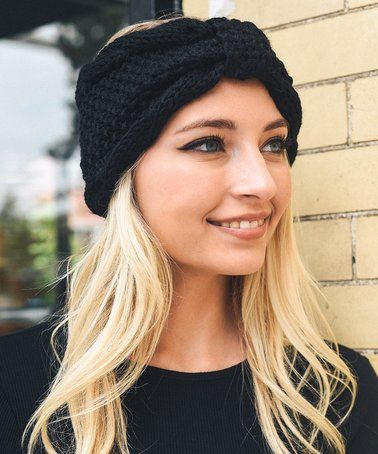 e43ffe08d This Black Rolled Bow Knit Headband is perfect! #zulilyfinds ...
