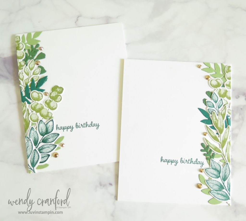 Create gorgeous cards using the Split Card Trick. The Forever Fern bundle is the perfect bundle to create fun cards using the technique.