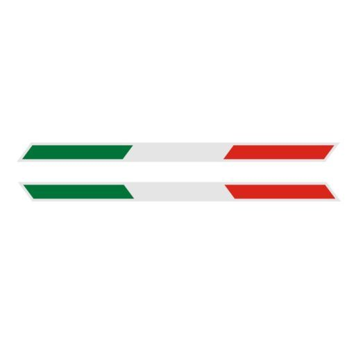 Pair reflective italy italian flag parallelogram b strip car decal sticker