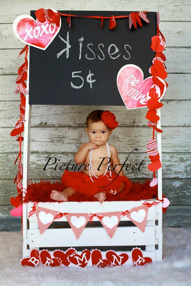Little Sweetheart Wearing Chiki Red Bloom Headband @ Valentine's Shooting ©PICTURE PERFECT #Baby #Infant #Girl