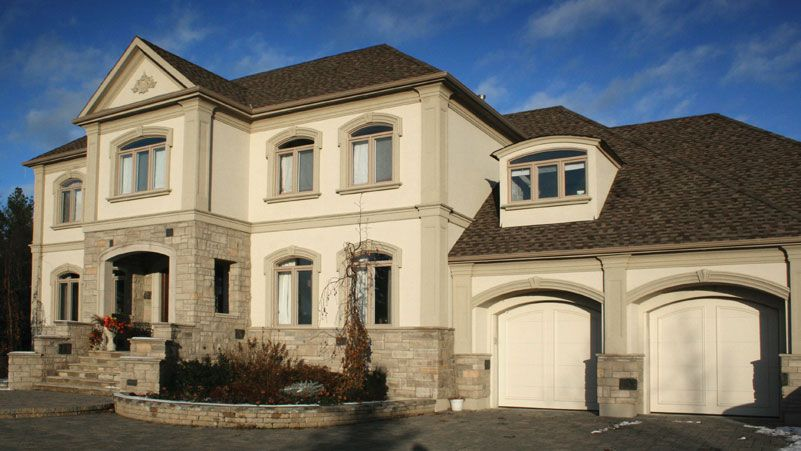 Exterior stucco colors industrial home colors samples for Stucco stone exterior designs
