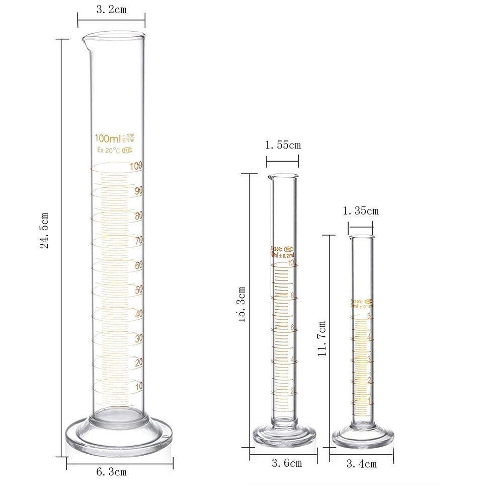 Glass beaker measuring graduated lab scientific cylinder 3