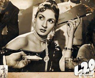 La vamp Nadira (Shree 420, 1955)