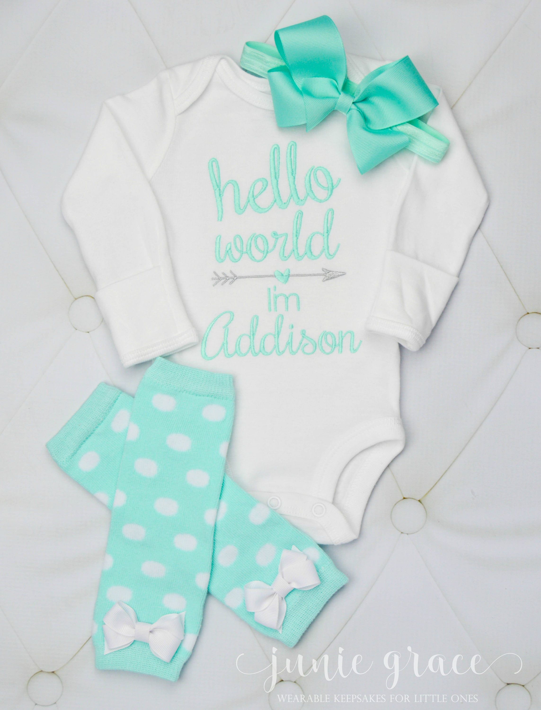 d540072b2853 Newborn Girl Coming Home Outfit Baby Girl Coming Home Outfit Newborn Girl  Clothes Baby Girl Outfit