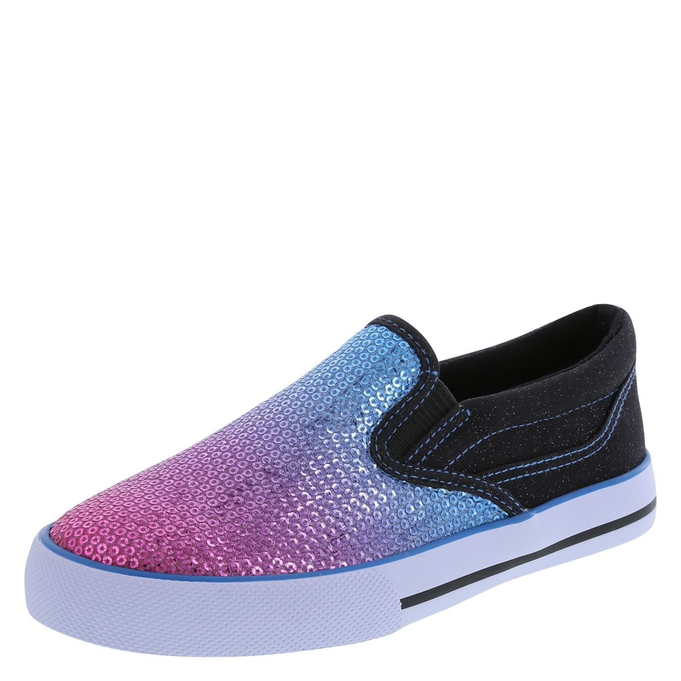 Roller shoes payless - Girls Ombre Sequin Slip On Payless Shoesource