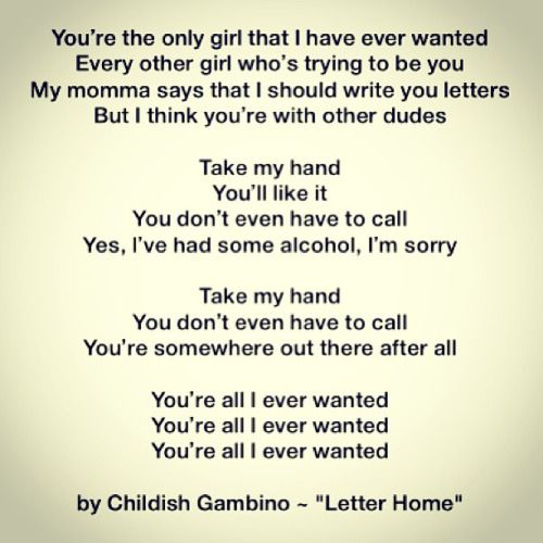 "Childish Gambino   ""Letter Home"" #music #hiphop #life #love"