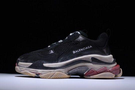 20e05a8fda01 Balenciaga Triple S TRAINER Sneaker SHOES Black Red Honest sale online. all  is authentic pics