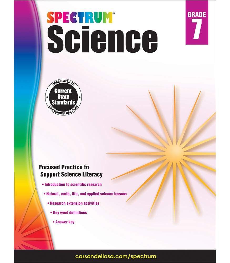 Spectrum Science Workbook Grade 7 Paperback Math Workbook Word Problems 7th Grade Spelling Words