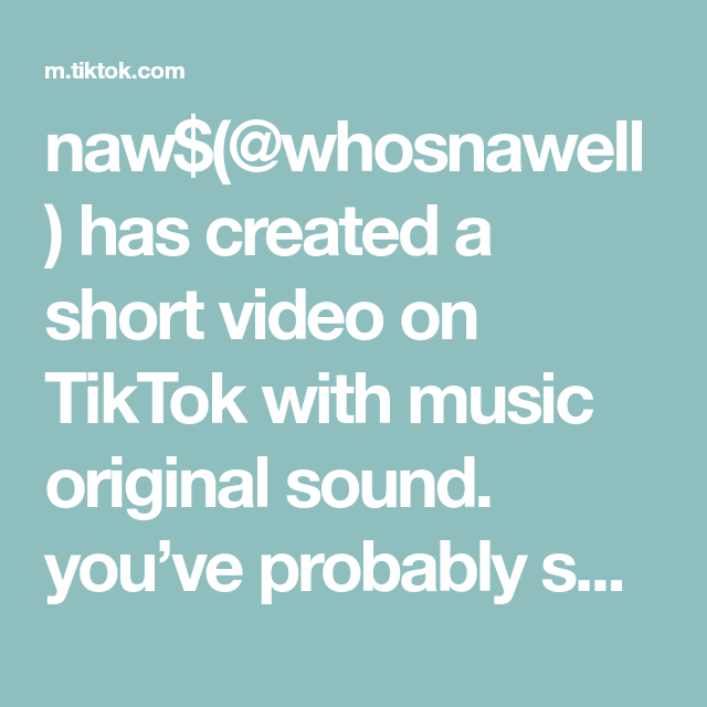Naw Whosnawell Has Created A Short Video On Tiktok With Music Original Sound You Ve Probably Seen My Face Already Heh The Originals Teacher Tech Mood Boost
