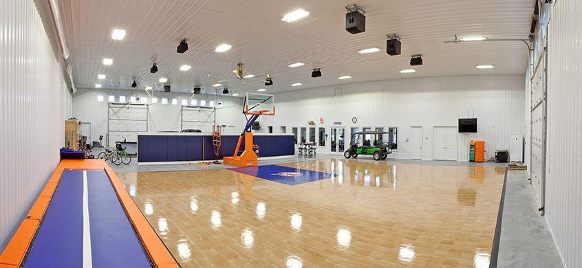 Basketball Court In A Pole Barn Pole Barn Barn Renovation Renovations
