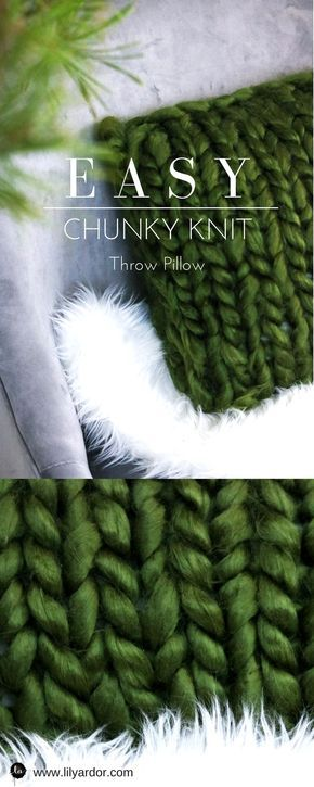 Chunky Knit Throw Pillow - In Under An Hour- Lily Ardor - Chunky Knit
