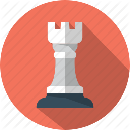 Chess Game Piece Rook Tower Icon Chess Icon Rook