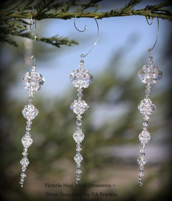 Christmas Decorations Icicle Ornaments: DIY Kit Beaded Icicle Ornaments, Set Of 5