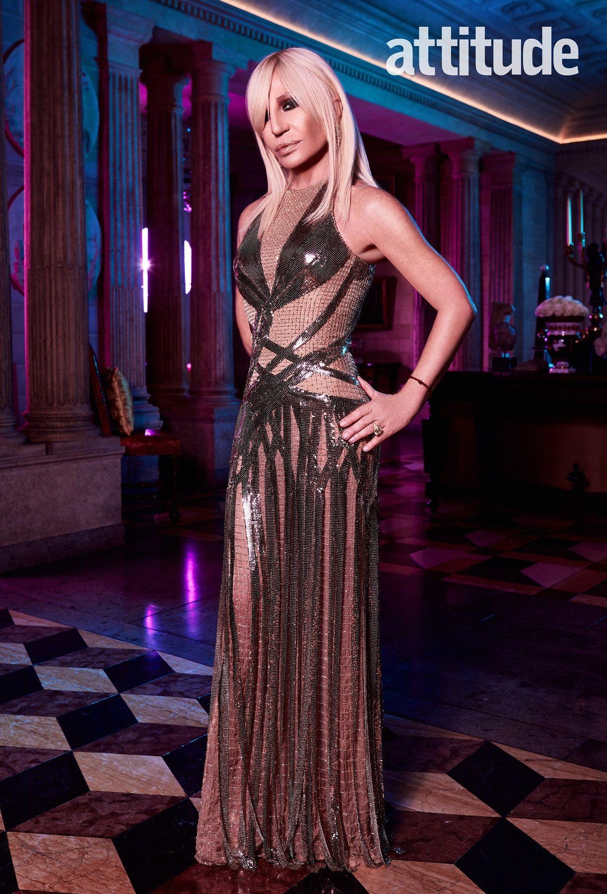 Donatella Versace Editorial Featured In Attitude Magazine January