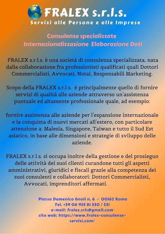Fralex S R L S Servizi Alle Persone E Alle Imprese Http Www