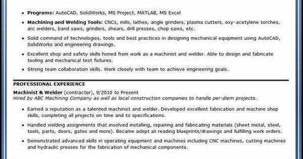 Powerful Entry Level Engineering Resume Samples to Get Hired Vina - new machinist blueprint examples