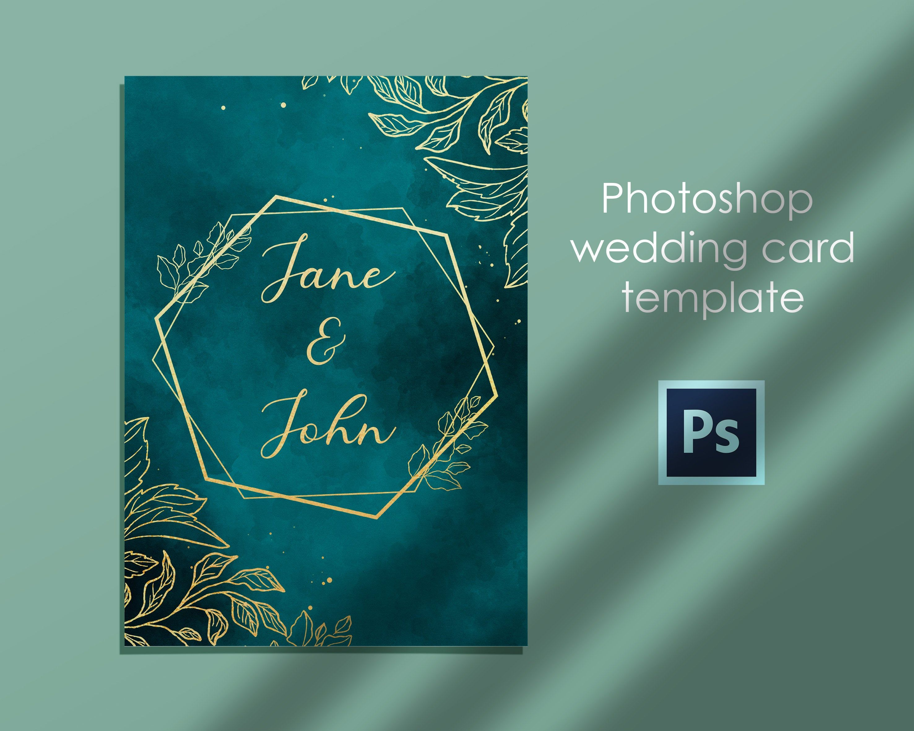 Instant Download Photoshop Editable Wedding Card Template Psd Template Printable Invitation Card In 2020 Printable Invitation Card Wedding Card Templates Wedding Cards