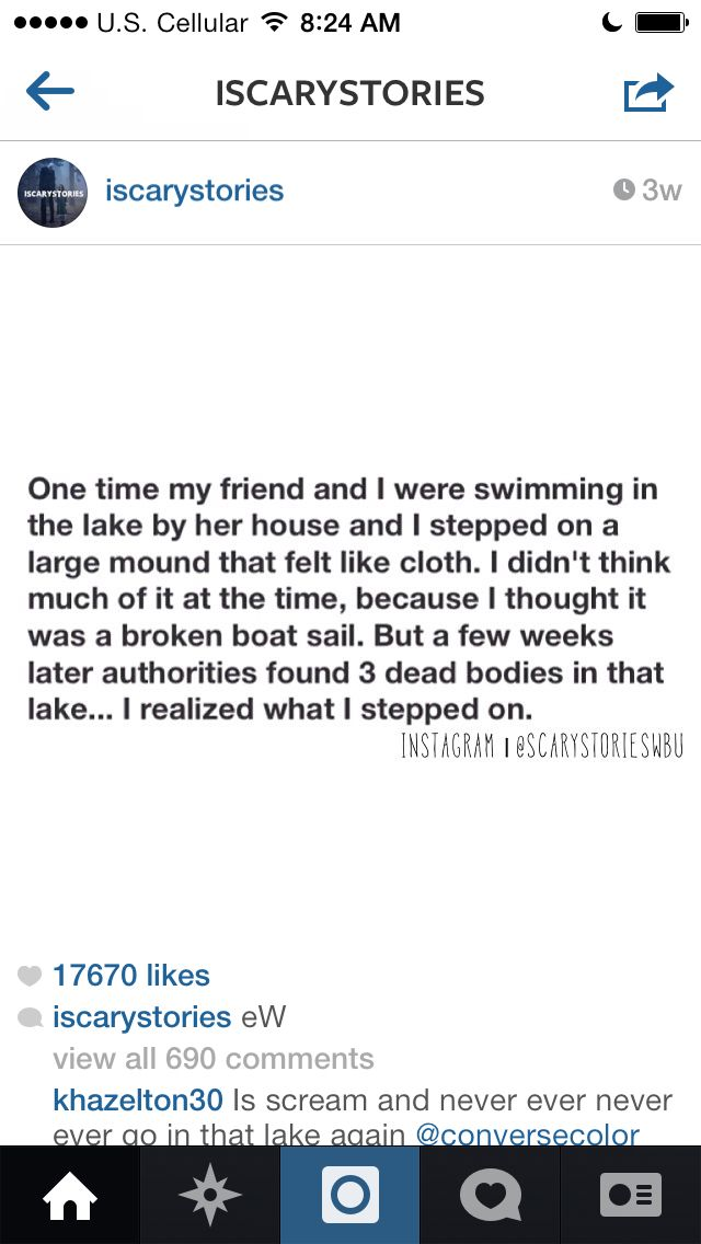 Sounds eerily similar to an experience i had as a child while swimming in a lake