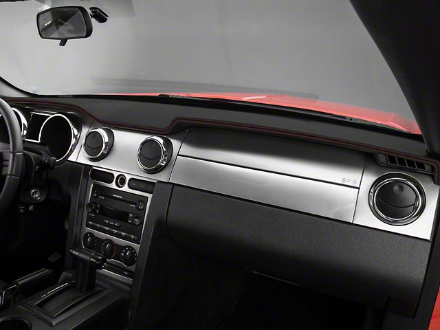 Mustang Dash Cover Black W Red Stiching 05 09 All Free Shipping Mustang Mustang Interior 2009 Mustang