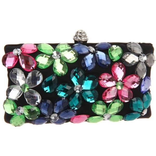 Magid Jeweled Flower E7239 Clutch ($73) ❤ liked on Polyvore