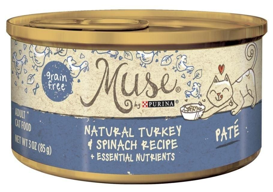 Purina muse natural adult grain free turkey and spinach
