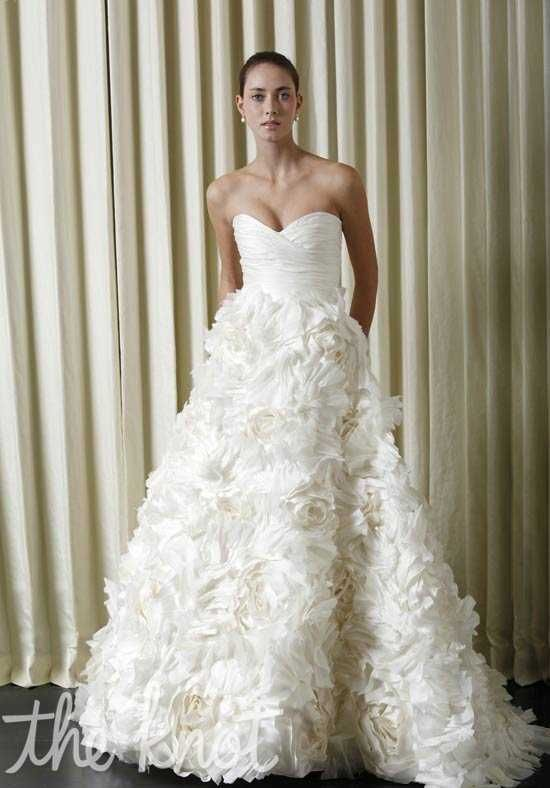 Monique Lhuillier Sunday Rose Wedding Dress photo | Wedding Belles ...