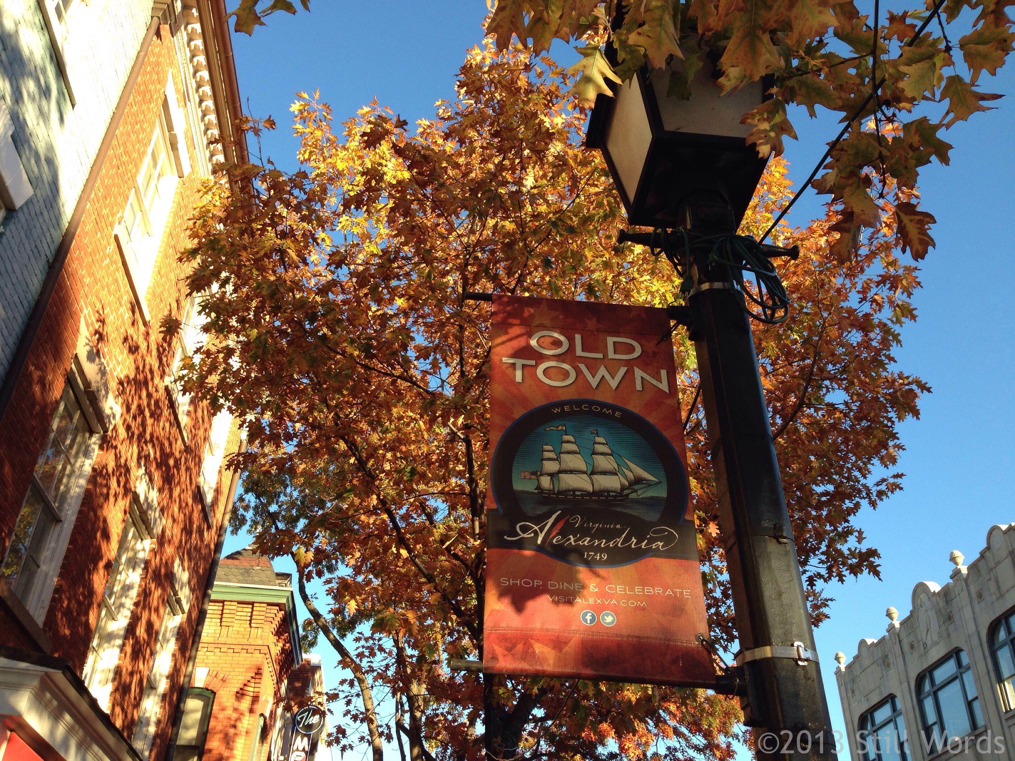 Autumn in old town alexandria va still words my blog