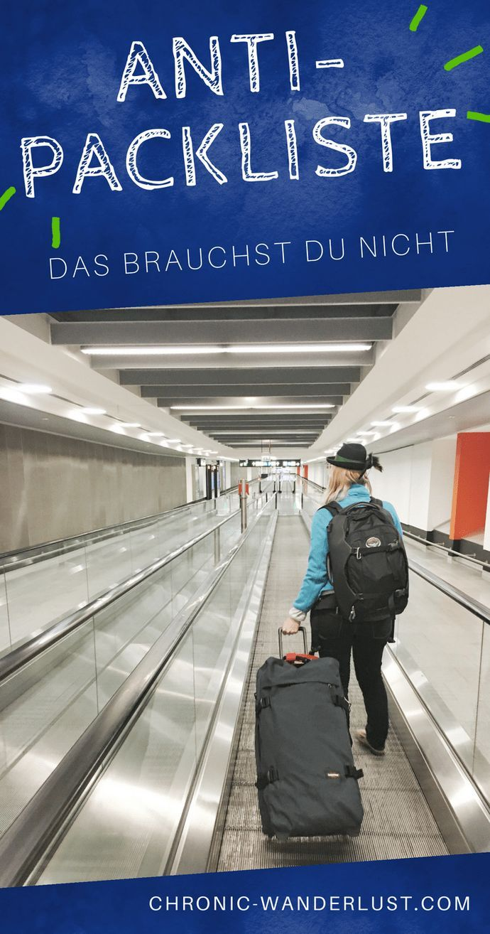 Anti-Packliste: Was du beim Reisen nicht brauchst | Chronic Wanderlust