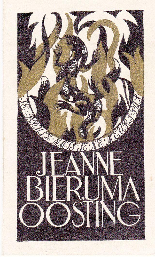 exlibris made by Jeanne Bieruma Oosting, P1 (met afbeeldingen)