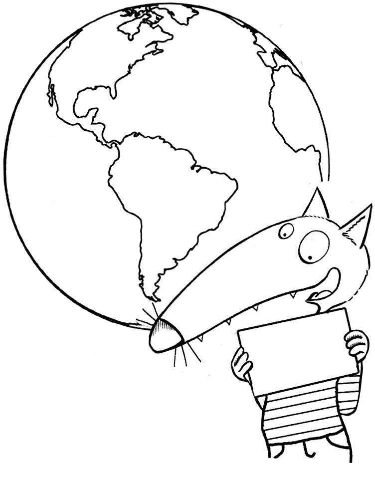 Le Loup Qui Voulait Faire Le Tour Du Monde Coloriage : voulait, faire, monde, coloriage, Idées, Voulait, Faire, Monde, Loup,, Monde,, Thème