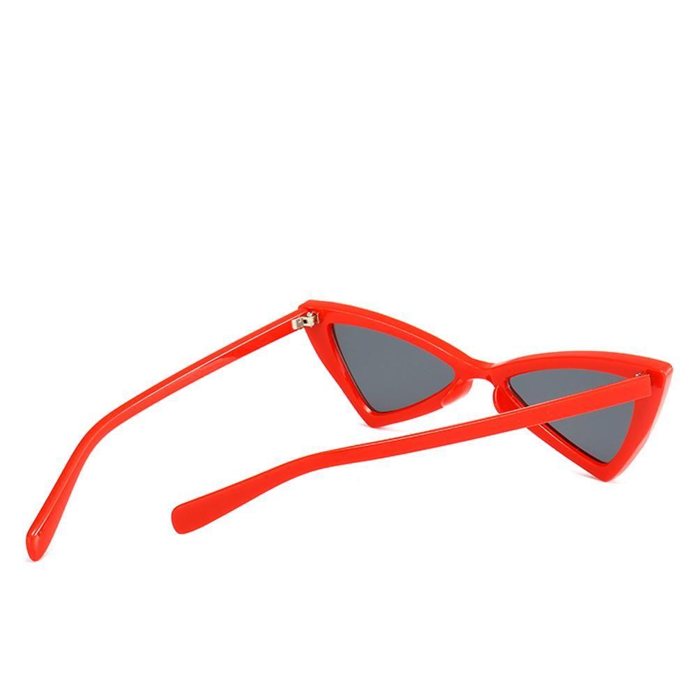 5248594d3e9 Peekaboo red triangle sunglasses women cat eye vintage black leopard cheap  butterfly sun glasses female new