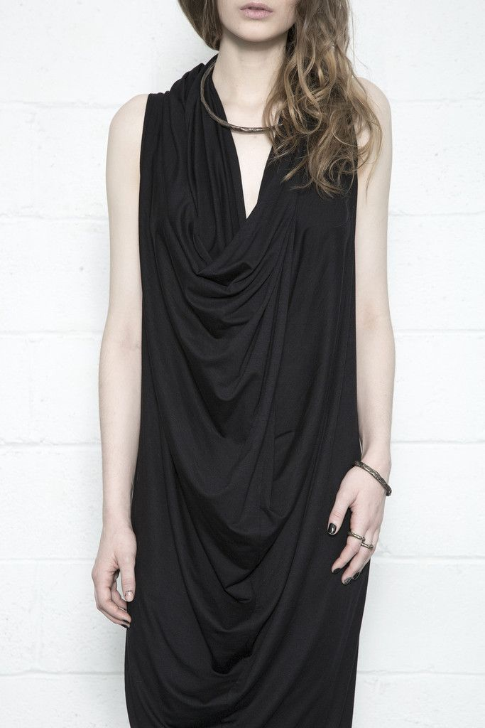 Tris Jersey Gown