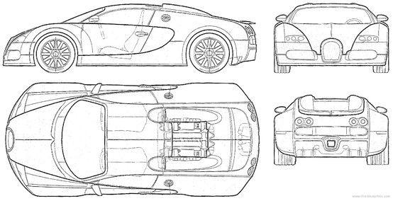Car blueprint blueprints colection pinterest dibujos tcnicos car blueprint malvernweather Gallery