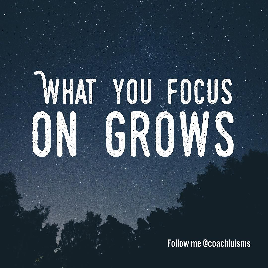 What you focus on grows. One of my mentors told me that long ago and it has stuck with me since then. Realizing how deep I needed to be inside of myself to see where I was focusing and why I was focusing on that took some time. Life is full of distractions. From the news to Facebook to the Kardashians it is bombardment from first light and it is made for one thing and that's disruption of your focus. It's all good until it begins to cloud our minds hearts and souls from doing what we really…