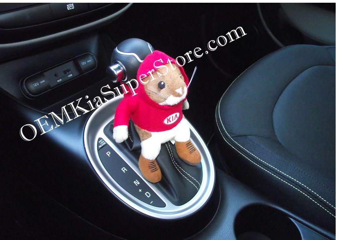 New Kia Hamster Plush Velcro Buddy Toy Stuffed Animal Seat Belt