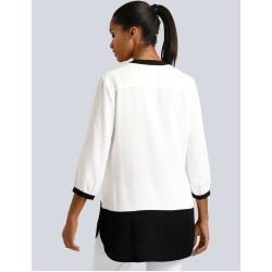 Photo of Alba Moda, blouse with contrasting piping, white Alba Moda