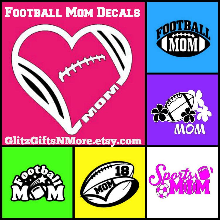 Beer Mug Decal Football Decal Window Decal Football Mom - Team window decals personalized